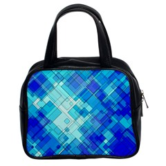 Abstract Squares Arrangement Classic Handbags (2 Sides)