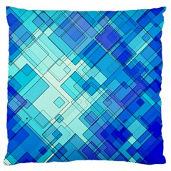 Abstract Squares Arrangement Large Cushion Case (one Side) by Nexatart