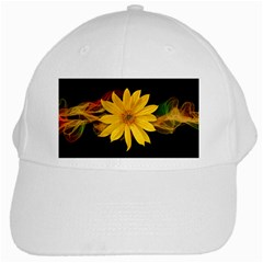 Sun Flower Blossom Bloom Particles White Cap