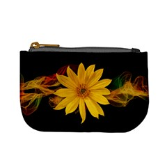 Sun Flower Blossom Bloom Particles Mini Coin Purses by Nexatart