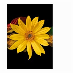 Sun Flower Blossom Bloom Particles Small Garden Flag (two Sides) by Nexatart