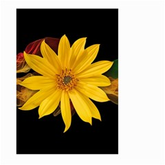 Sun Flower Blossom Bloom Particles Large Garden Flag (two Sides) by Nexatart