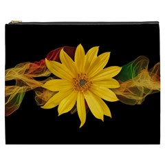 Sun Flower Blossom Bloom Particles Cosmetic Bag (xxxl)