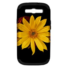 Sun Flower Blossom Bloom Particles Samsung Galaxy S Iii Hardshell Case (pc+silicone) by Nexatart