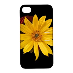 Sun Flower Blossom Bloom Particles Apple Iphone 4/4s Hardshell Case With Stand