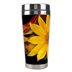 Sun Flower Blossom Bloom Particles Stainless Steel Travel Tumblers by Nexatart