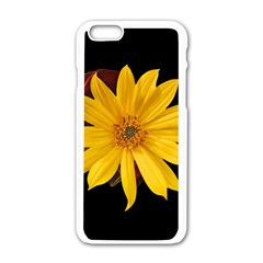 Sun Flower Blossom Bloom Particles Apple Iphone 6/6s White Enamel Case by Nexatart