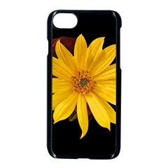 Sun Flower Blossom Bloom Particles Apple Iphone 8 Seamless Case (black)
