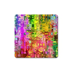 Color Abstract Artifact Pixel Square Magnet