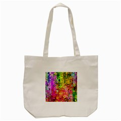 Color Abstract Artifact Pixel Tote Bag (cream) by Nexatart