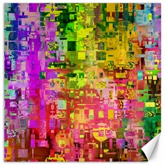 Color Abstract Artifact Pixel Canvas 12  X 12   by Nexatart