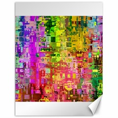 Color Abstract Artifact Pixel Canvas 12  X 16   by Nexatart