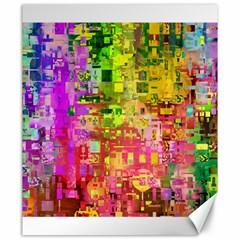 Color Abstract Artifact Pixel Canvas 20  X 24   by Nexatart