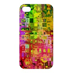 Color Abstract Artifact Pixel Apple Iphone 4/4s Premium Hardshell Case