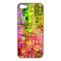 Color Abstract Artifact Pixel Apple Iphone 5 Case (silver)