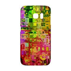 Color Abstract Artifact Pixel Samsung Galaxy S6 Edge Hardshell Case by Nexatart