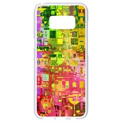 Color Abstract Artifact Pixel Samsung Galaxy S8 White Seamless Case by Nexatart