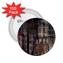 Architecture City Home Window 2 25  Buttons (100 Pack)
