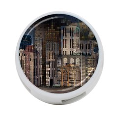 Architecture City Home Window 4 Port Usb Hub (one Side) by Nexatart