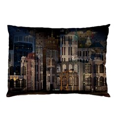 Architecture City Home Window Pillow Case (two Sides)