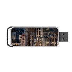 Architecture City Home Window Portable Usb Flash (one Side)