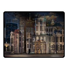 Architecture City Home Window Double Sided Fleece Blanket (small)