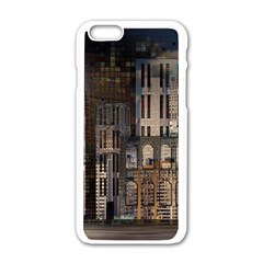 Architecture City Home Window Apple Iphone 6/6s White Enamel Case