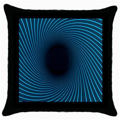 Background Spiral Abstract Pattern Throw Pillow Case (black) by Nexatart