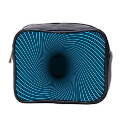 Background Spiral Abstract Pattern Mini Toiletries Bag 2 Side by Nexatart