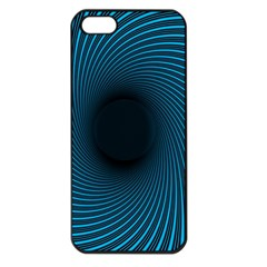 Background Spiral Abstract Pattern Apple Iphone 5 Seamless Case (black)
