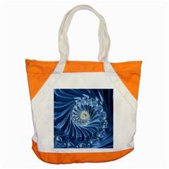 Blue Fractal Abstract Spiral Accent Tote Bag by Nexatart