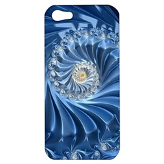 Blue Fractal Abstract Spiral Apple Iphone 5 Hardshell Case by Nexatart