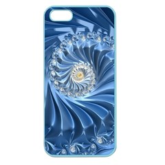Blue Fractal Abstract Spiral Apple Seamless Iphone 5 Case (color) by Nexatart