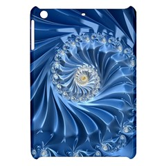 Blue Fractal Abstract Spiral Apple Ipad Mini Hardshell Case