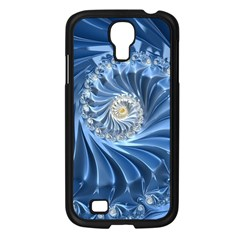 Blue Fractal Abstract Spiral Samsung Galaxy S4 I9500/ I9505 Case (black)