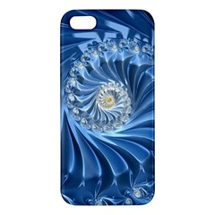 Blue Fractal Abstract Spiral Iphone 5s/ Se Premium Hardshell Case