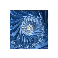 Blue Fractal Abstract Spiral Satin Bandana Scarf