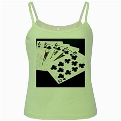 Poker Hands   Royal Flush Clubs Green Spaghetti Tank