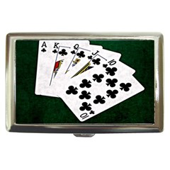 Poker Hands   Royal Flush Clubs Cigarette Money Cases by FunnyCow