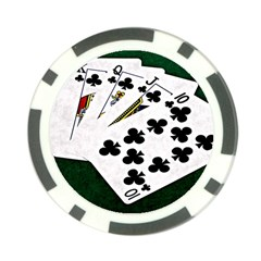 Poker Hands   Royal Flush Clubs Poker Chip Card Guard by FunnyCow