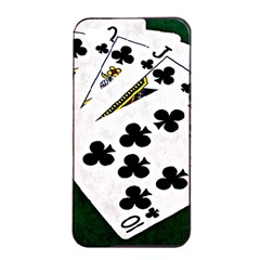 Poker Hands   Royal Flush Clubs Apple Iphone 4/4s Seamless Case (black) by FunnyCow