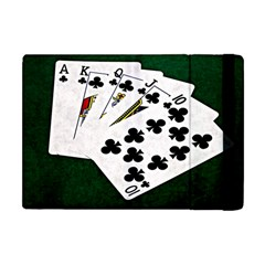 Poker Hands   Royal Flush Clubs Apple Ipad Mini Flip Case by FunnyCow