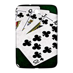 Poker Hands   Royal Flush Clubs Samsung Galaxy Note 8 0 N5100 Hardshell Case  by FunnyCow