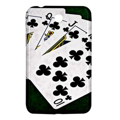 Poker Hands   Royal Flush Clubs Samsung Galaxy Tab 3 (7 ) P3200 Hardshell Case  by FunnyCow