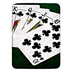 Poker Hands   Royal Flush Clubs Samsung Galaxy Tab 3 (10 1 ) P5200 Hardshell Case  by FunnyCow