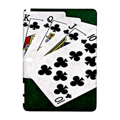 Poker Hands   Royal Flush Clubs Samsung Galaxy Note 10 1 (p600) Hardshell Case by FunnyCow
