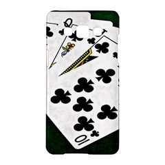 Poker Hands   Royal Flush Clubs Samsung Galaxy A5 Hardshell Case  by FunnyCow