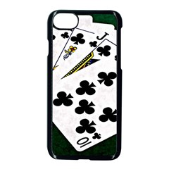 Poker Hands   Royal Flush Clubs Apple Iphone 8 Seamless Case (black) by FunnyCow