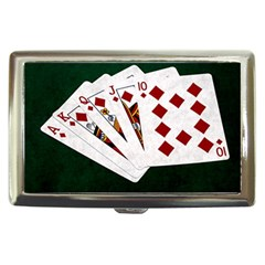 Poker Hands   Royal Flush Diamonds Cigarette Money Cases by FunnyCow