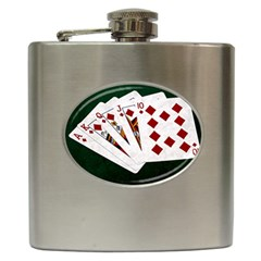 Poker Hands   Royal Flush Diamonds Hip Flask (6 Oz) by FunnyCow